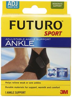 Futuro Sport Adjustable Ankle, Moderate Support, Adjustable (Pack of 2) >>> Continue to the product at the image link.