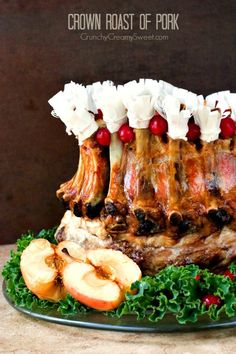 Crown Roast of Pork - the ultimate meat centerpiece for your holiday dinner. Impressive yet easy to prepare. It's time to bring the old classic back!