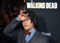 About to faint under the weight of his own beauty. | 36 Photos Of Norman Reedus That Will Give You A Zombie Boner