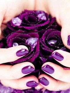 Idk if this would even work for me the same but I love the purple nails The Purple, Purple Stuff, All Things Purple, Shades Of Purple, Purple Flowers, Bright Purple, Magenta, Purple Baby, Purple Sparkle