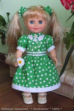 """Серия платьев """"Любимые горошинки"""" / Одежда и обувь для кукол своими руками / Бэйбики. Куклы фото. Одежда для кукол"""