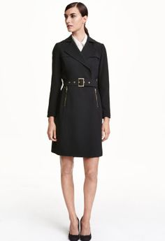 H&M Double-breasted trenchcoat in woven fabric - we love this classy trench coat.  Makes you look classy even in the rain!  Unfortunately only size 10 is left as of 1/7/2016