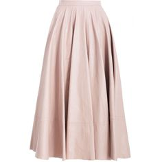 Tamer Circle Leather Skirt ($2,600) ❤ liked on Polyvore featuring skirts, bottoms, saias, gonne, midi skirt, leather midi skirt, pink midi skirt, circular skirt and knee length leather skirt