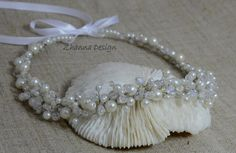 Bridal Pearls CrownBridal TiaraPearls by ZhannaDesign on Etsy, €30.00
