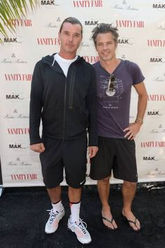Tim and Gavin Rossdale at the Mak Center for Art & Architecture Tennis Tournament. Read more here and watch Tim play some tennis