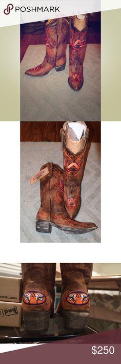 BRAND NEW GAMEDAY BOOTS Perfect to wear to a game or tailgate! GENUINE LEATHER. Beautiful embroidery. Never worn! Brand new in the box with tags! gameday Shoes
