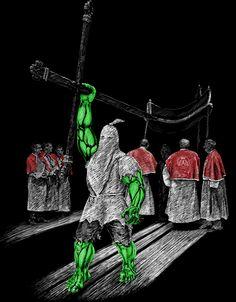 Catenacciu #hulk #marvel #tshirtdesign #antica #nustrale #croix #corsica