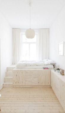 Small Narrow Room Layout & Storage