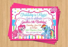 My Little Pony Birthday Party Personalized by my3sweetcheeks
