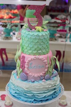 Cake - Fundo do mar - Barbie Pearl Princess