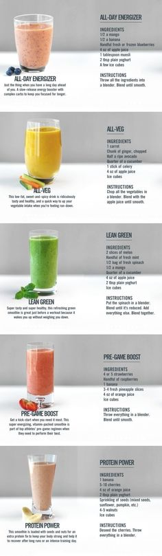 Whether you\u2019re trying to lose weight, tone up, or just eat a clean diet, smoothies are an easy and quick way to enjoy a delicious meal or snack at home or on the go. With all that fruit, it\u2019s easy to sneak in health foods like kale and spinach that might be hard to enjoy \u2026 #weightloss
