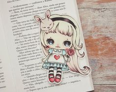 Alice in Wonderland Bookmark - Kawaii Panda - Making Life Cuter Alice In Wonderland Party, Adventures In Wonderland, Chibi, Art Fantaisiste, How To Make Bookmarks, Disney Drawings, Drawing Disney, Whimsical Art, Disney Love