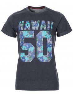 BC London Mens Navy Marl Hawaii 5-0 T-Shirt £14.99