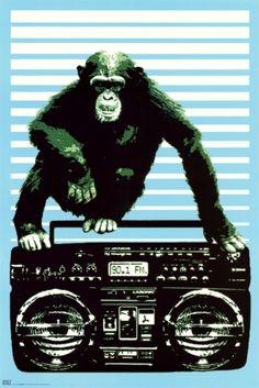 Steez - Monkey Boom Box Poster