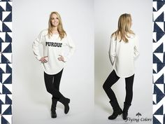 Purdue ladies! Check out this super comfy long-sleeved fleece! What a perfect gameday outfit!