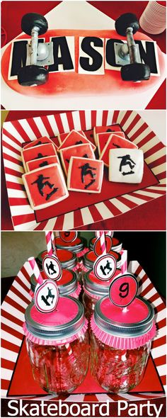 We Heart Parties is a community website to share easy party ideas. Find inspiration for birthday parties, baby showers, bridal showers, graduation parties, first birthday parties and more. 3rd Birthday Party For Boy, Second Birthday Ideas, 11th Birthday, Teen Party Themes, Teen Parties, Party Ideas, Skateboard Party, Skate Party, Heart Party