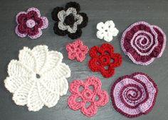 Immediate+Download++Accent+Flowers+Crochet+door+petalstopicots,+$5.50