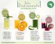 Puedes usar estos zumos diariamente junto a una dieta variada o puedes tomarlo combinados para realizar una dieta de ayuno controlado.