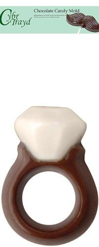 Cybrtrayd 8100 Diamond Ring Mini Make N Mold Chocolate Candy Mold with Exclusive Cybrtrayd Copyrighted Chocolate Molding Instructions >>> You can get more details by clicking on the image.