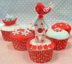 Bird House Cupcakes by neviepiecakes, via Flickr