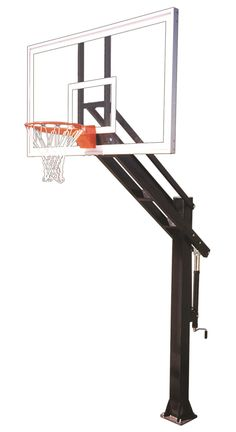 First Team Stainless Titan Arena In Ground Adjustable Outdoor Basketball Hoop 72 inch Tempered Glass from NJ Swingsets
