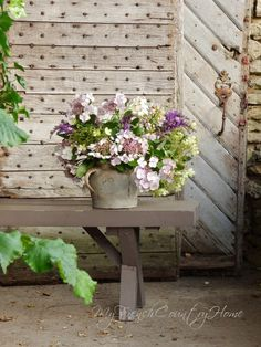 hydrangeas and old french doors - MY FRENCH COUNTRY HOME