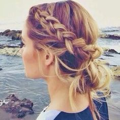 Side braid into a bun