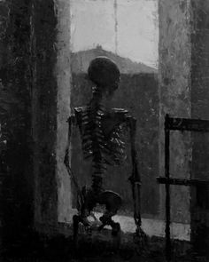 Dark art for our inner demons — sakrogoat: Mia Bergeron - The Empty Room Kunst Inspo, Art Inspo, Art And Illustration, Fantasy Kunst, Fantasy Art, Skeleton Art, Arte Horror, Memento Mori, Dark Art