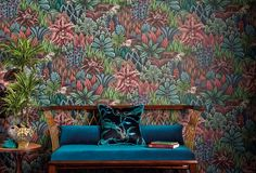 Our rich and fabulous Singita Wallpaper by Cole & Son forms part of the new Ardmore Collection. This rich tapestry-like paper is a rich, patterned, forest design, featuring foliage and plant motifs.