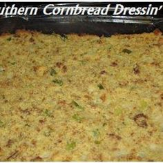 Southern Cornbread Dressing I love dressin, and I love my families dressing best. We have it both on Thanksgiving and Christmas. Best Thanksgiving Recipes, Holiday Recipes, Thanksgiving Meal, Holiday Meals, Thanksgiving Activities, Christmas Desserts, Turkey Dressing, Chicken Dressing, Vingerette Dressing