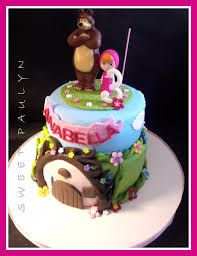 masha and the bear taart birthday cake pinterest. Black Bedroom Furniture Sets. Home Design Ideas