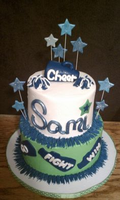 Cheerleader Cake-yeah, like I'd have time to make this... Maybe next year.