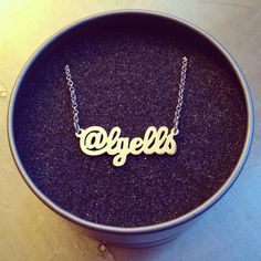 Custom sterling silver social media identity necklace.  http://survivalofthehippest.com/order.html