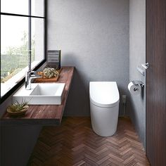 Pin on インテリア Toto Toilet, Toilet Room, Bathroom Toilets, Washroom, Ideal Bathrooms, Restroom Design, Japanese House, House Layouts, Kitchen Styling