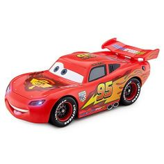 Disney Cars 2 Transforming Lightning Mcqueen Vehicle by Disney. $10.99. Requires 3 x AG13 button cell batteries, included. Transforms with 3 sets of tires (racing/party/travel). 2 1/2'' H x 3 3/4'' W x 8'' L. Plastic. Working headlights and brakelights. Become part of Lightning McQueen's pit crew and help him prepare for every occasion. This Transforming Lightning McQueen Vehicle includes 3 sets of wheels, with a set for racing, a set for partying and a set for when he go...