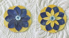 Less fabric, less time, same fun: folding and sewing miniatures flowers.