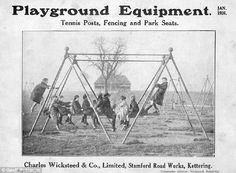 Catalogue from 1926 showing the new playground swings in the UK
