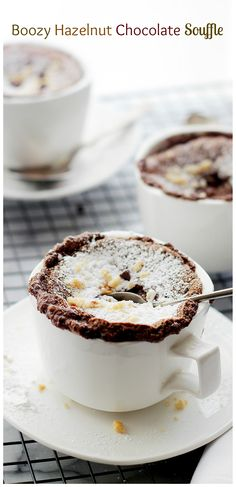 chocolate souffle with hazelnut liqeuer