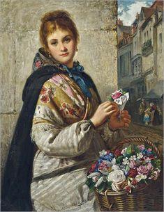 Haynes King (1831-1904)- The Flower Seller 1876