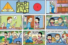 Photo of Garfield comic for fans of Garfield. Gato Garfield, Garfield Cartoon, Garfield Comics, Cat Comics, Funny Cartoons, Funny Comics, Funny Cats, Funny Stuff, Gatos