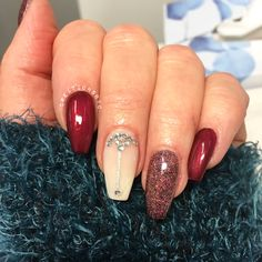 Red nails gelnails gel french fade babyboomer