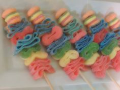 Sour Candy Skewers Centerpiece