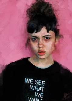 We See What We Want. Powerful #portrait #art and great brushwork by IVANA BESEVIC