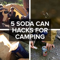 5 Soda Can Hacks For Camping // #camping #hacks #campinghacks #outdoors #nifty