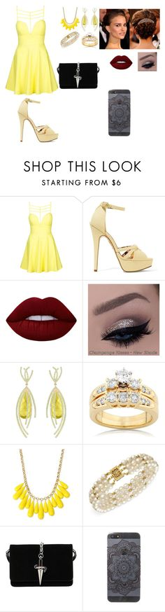 """Untitled #87"" by klaudija369 on Polyvore featuring beauty, Topshop, Charlotte Olympia, Lime Crime, Arya Esha, Kobelli, INC International Concepts, Belle de Mer and Cesare Paciotti"