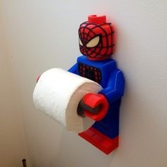 Lego Spider Man Toilet Roll Holder Bathroom Decor print model A one of a kind spider man toilet roll holder for lego fans. Adults and kids love the classic lego man and now he can hold your toilet paper. Made by popular request and resembles the actual Lego Bathroom, Superhero Bathroom, Superhero Room, Bathroom Ideas, Boy Room, Kids Room, Marvel Bedroom, Room Deco, Lego Room