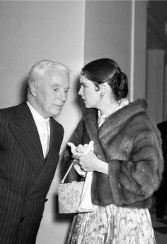 Charlie Chaplin and Oona | lot about Charlie Chaplin & Oona O'neill Chaplin