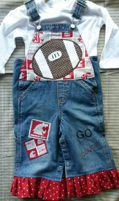 Check out this item in my Etsy shop https://www.etsy.com/listing/276373560/toddler-girls-cheer-football-sport-denim