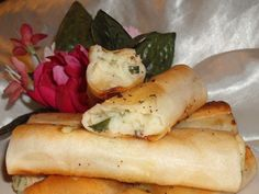 Here is the second of my Algerian bourek recipes. I have also posted a Chicken And Preserved Lemon Bourek recipe. This cheese And potato bourek is another of my family favourites And there never seem to be enough! You can use phyllo dough instead of the spring roll sheets. You can also add a few finely chopped olives in place of the gherkins. If youre not familiar with making bourek, have a look at the NA*ME Fourms Bourek Demo: http://www.recipezaar.com/bb/viewtopic.zsp?t=310912