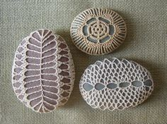 Crochet stones by Monicaj on Etsy